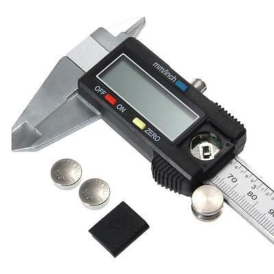 Electronic Digital Lcd Steel Vernier Caliper Gauge Micrometer Tool 150mm 15cm 6