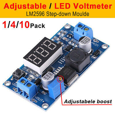 Lm2596 Dc-dc Buck Converter Adjustable Power Supply Step Down Module Voltmeter