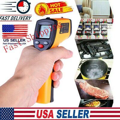 No-contact Lcd Ir Laser Pyrometers Infrared Digital Temperature Thermometer Gun
