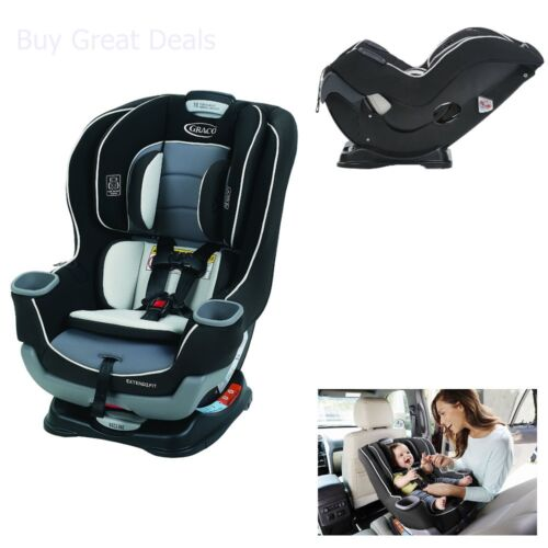 Graco Extend2Fit Car Seat, 3 Position Harness Convertible Baby Car Seat, Gotham