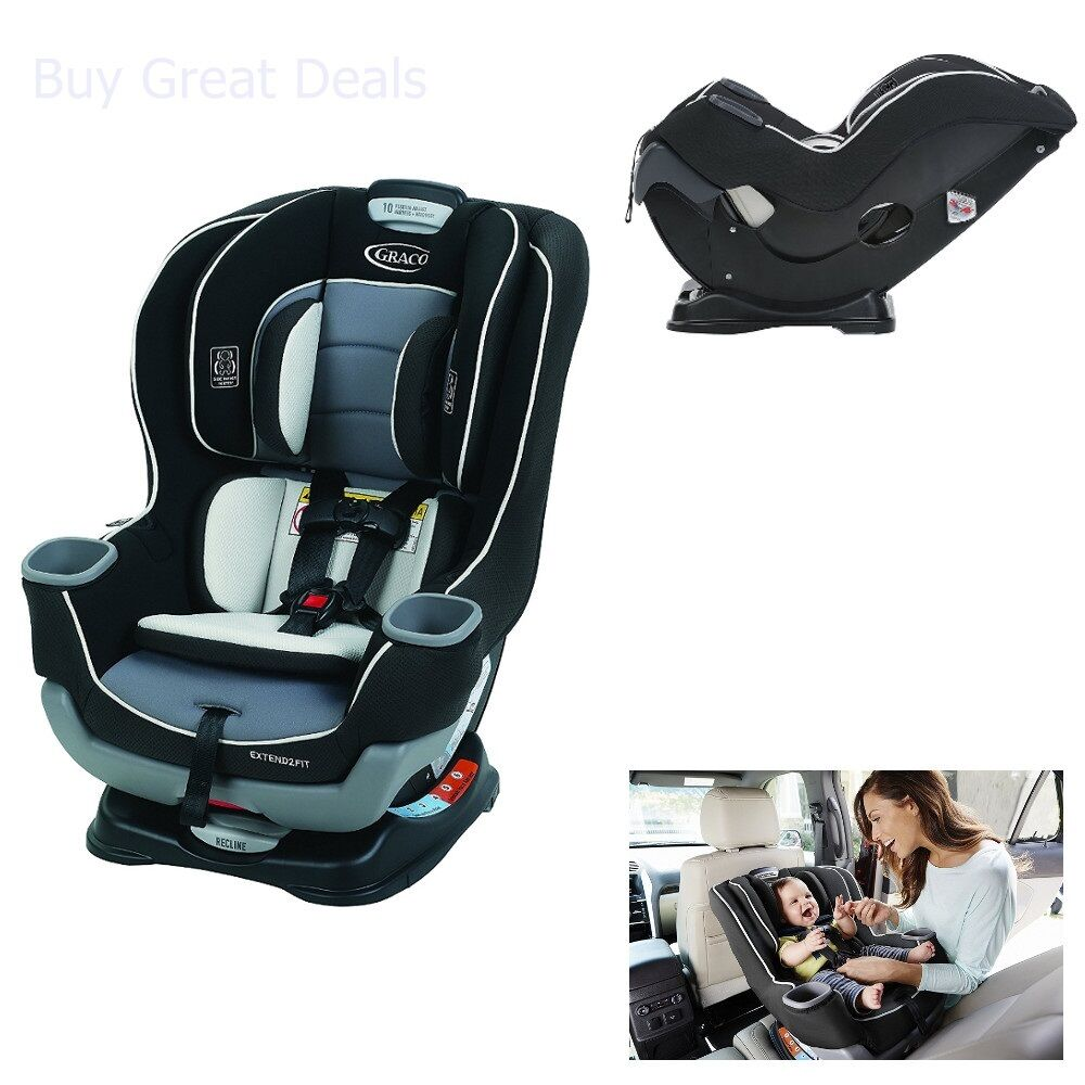 Graco Extend2Fit Car Seat, 3 Position Harness Convertible Ba
