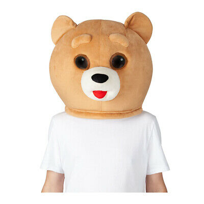 Teddybär Jumbo Kopfmaske Erwachsene Süß Kostüm - Süßes Teddybär Kostüm
