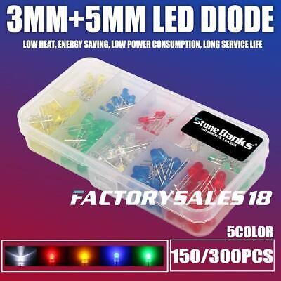 3mm 5mm Assortment 2pin Led Round Light Emitting Diode F3 F5 Bulb Kit Colorful