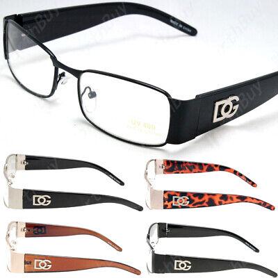 Men Women Clear Lens Rectangular Eye Glasses Nerd Retro Fashion Full Frame (Eye Glasses Frames For Women)