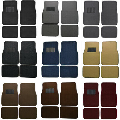 Car Floor Mats for Sedan & SUV 4 Piece Carpet Liner Vinyl Heel Pad - Carpet Mat 2007 Ford Escape 4 Piece