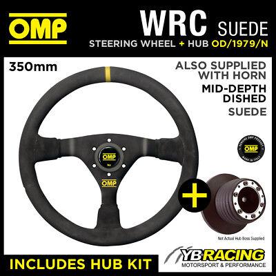 VAUXHALL ASTRA G MK4 ALL (25mm) 98-04 OMP WRC 350mm MID-DEPTH STEERING WHEEL KIT