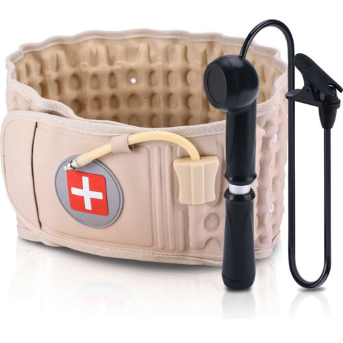 Back Decompression Belt Lumbar Support Pain Relief Lower Back Traction Device Health & Beauty