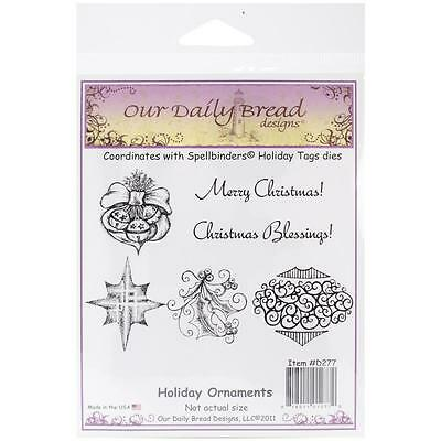 Our Daily Bread Cling Stamps Holiday Ornaments   New