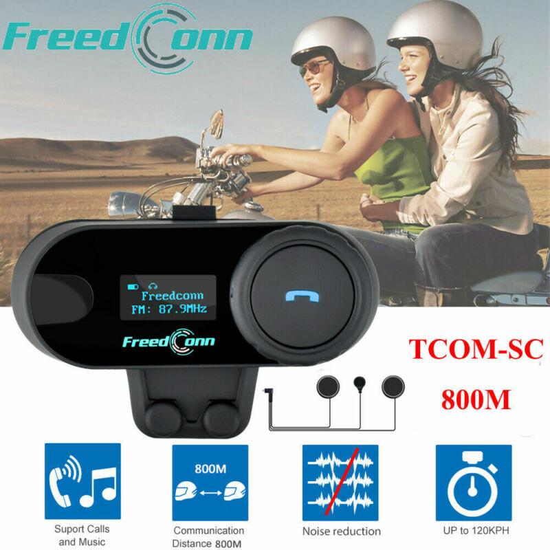 Freedconn TCOM-SC 3 Riders Intercom Motorcycle Bluetooth Headset Helmet FM Radio