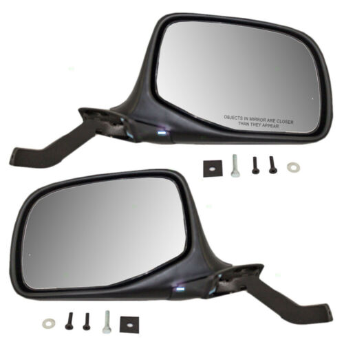 Fits 92 93 94 95 96 Ford Bronco Mirror Pair Set Both NEW Power Black and Chrome