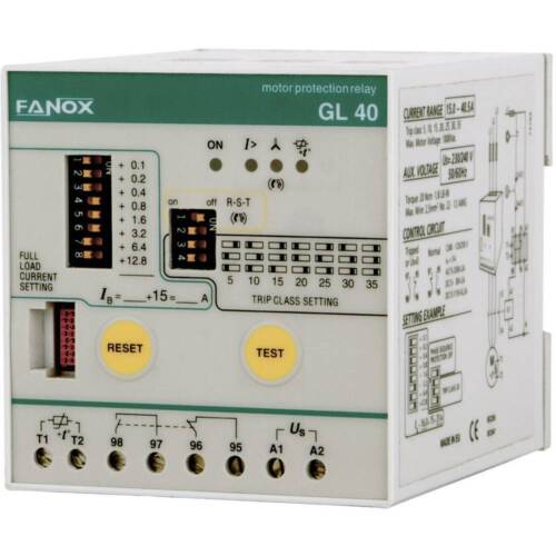 Fanox GL16 Integral Motor Protection Relay 3 - 10hp (115V Aux)