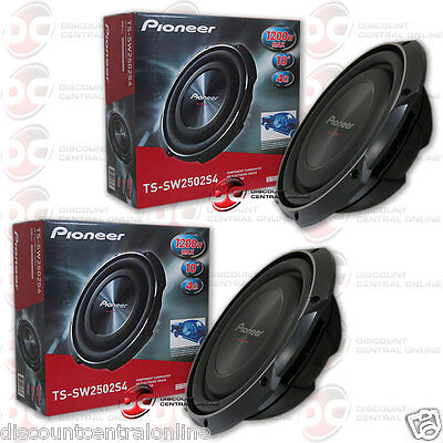 2 x PIONEER TS-SW2502S4 10