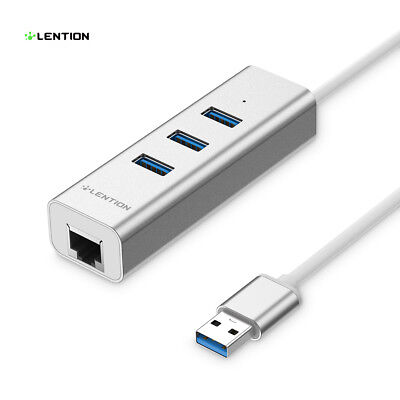 USB 3.0 Hub Splitter Ethernet RJ45 LAN Adapter für MacBook Pro Air 13/15 Dell HP Macbook Pro Ethernet