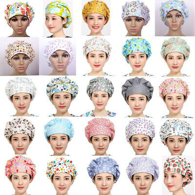 New Doctor/Nurses Medical Surgical Surgery Hat Adjustable Printed Bouffant Cap