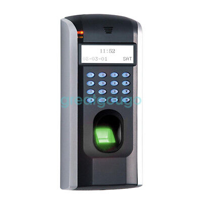 Zk F7 Biometric Fingerprint Time Attendance Clock Door Access Control Tcpip