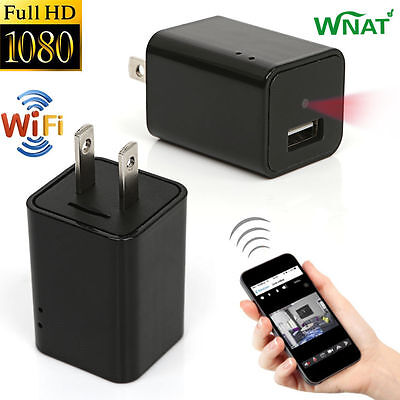 Mini 1080P WIFI HD Hidden Spy Camera Plug Wall Charger Video Recorder Nanny Cam