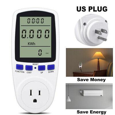 Digital Power Consumption Meter Electricity Saving Energy Watt Volt Amp Monitor