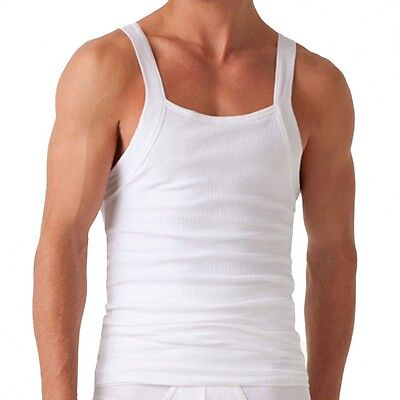2 ( X ) Ist Tank-top (2(X)IST Men's Slimming Square-Cut White Tank Top, Size Small)