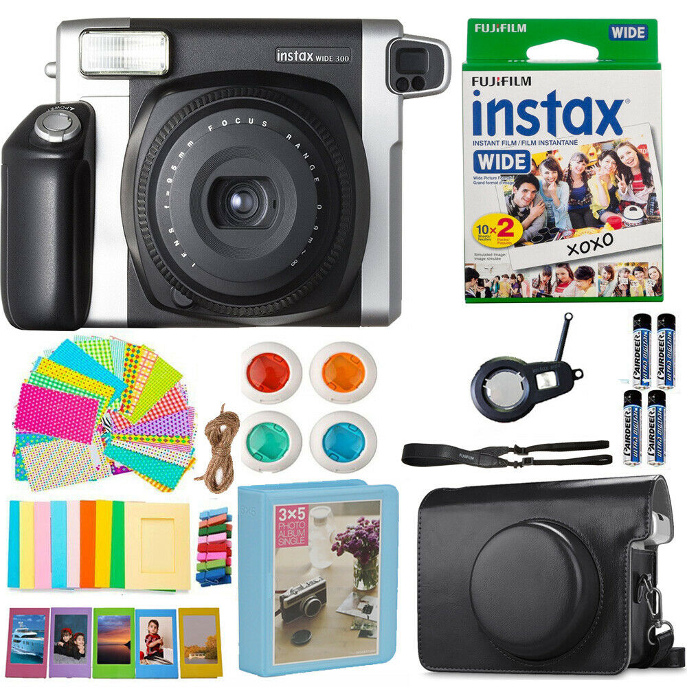 Fujifilm INSTAX Wide 300 Fuji Instant Camera + 20 Film + Cas