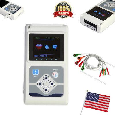 Us Fedex Contec Tlc9803 Hand-held Ecgekg Holter Monitoring Recorder Systemfda