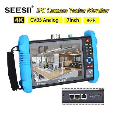 "7"" 4K 1080P CCTV Tester Monitor CVBS Analog IPC Camera POE Test Touch Screen"