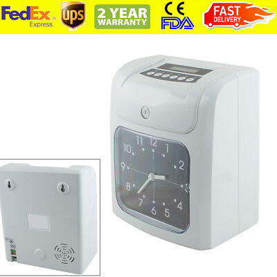 Usaemployee Analogue Time Recorder Time Clock Lcd Wcard Monthlyweekly