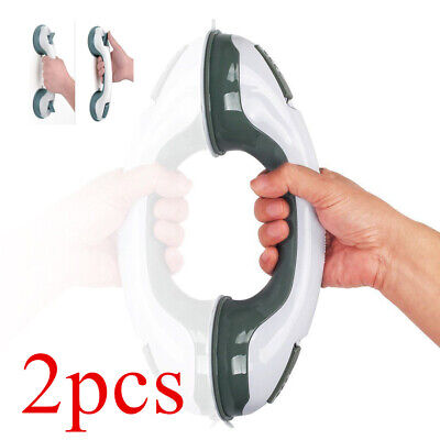 2PEICES SAFETY SUCTION GRIP HAND RAIL BATH SHOWER HELPING MEDICAL HANDLE 2 Hand Shower Rails