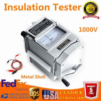 1000m 1000v Metal Megger Meter Insulation Tester Resistance Meter Professional