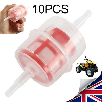 10x Universal Car LARGE Fuel Filter Inline DIESEL 6mm 8mm Pipe Hose Brand NEW UK