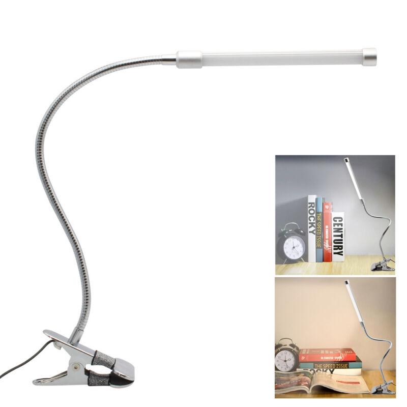 Lampada da Tavolo Dimmerabile Luce Lettura Leggero Flessibile Led USB Clip Clamp
