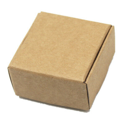 Handmade Soap Jewelry Wedding Candy Boxes Kraft Paper Brown Gift Packaging Boxes