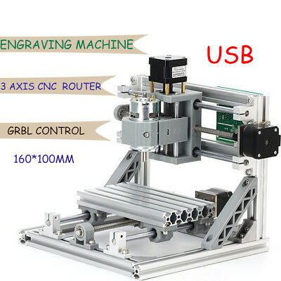 3 Axis CNC Router Mini Wood Carving machine 1610 PCB Milling + GRBL control