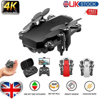 Foldable Drone WIFI FPV Mini RC Drone 4K HD Aerial Camera Quadcopter 360° 3D UK