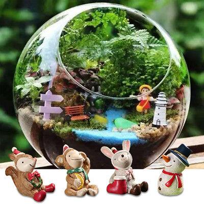 DIY Craft Miniature Xmas Santa Fairy Garden Terrarium Figurine Bonsai Ornaments