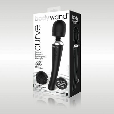 Bodywand Curve Rechargeable - BLACK Body Wand (Curve Body Massager)