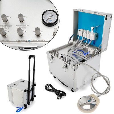 Dental Unit Portable Delivery Rolling Case Powerful Built-inoilless Compressor