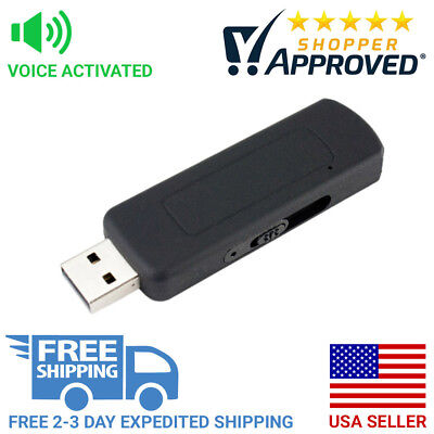 Clearlight Security Pro Grade Voice Activated USB Flash Drive Audio Recorder