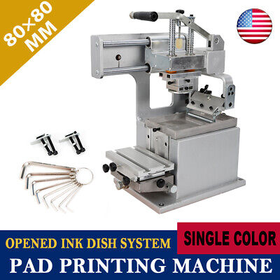 Manual Pad Printer Pad Printing Machine Pad Printing Kit Opened Ink Cup 8080mm