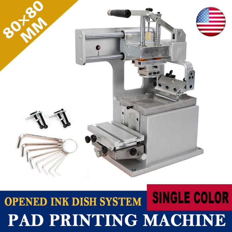 Manual Pad Printer Pad Printing Machine Pad Printing Kit Opened Ink Cup 80×80mm