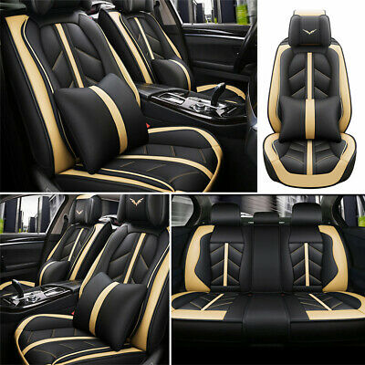 Deluxe Car Seat Cover 5-Sit Cushion Front Rear Car Car & Truck Parts Accessories