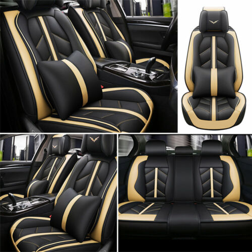 Car Parts - Deluxe Car Seat Cover 5-Sit Cushion Front Rear Car Car & Truck Parts Accessories
