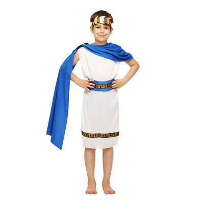 Boy's Greek Style Dress Up Kid's Pharaoh Costume Cosplay Halloween Party Outfit (Greek Style Costumes)