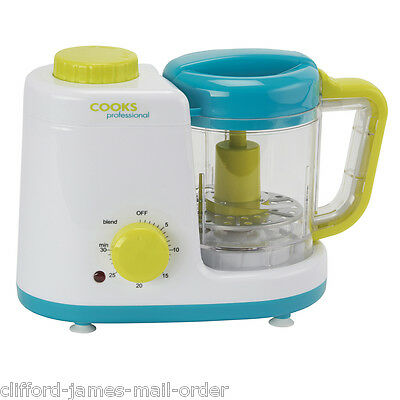 Electric Baby Food Blender Processor Steamer Maker for Small Toddler Meals New