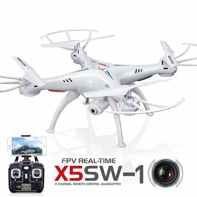 Syma X5SW 2.4Ghz 4CH WIFI FPV RC Drone with HD Camera Real Time RC Quadcopter BU