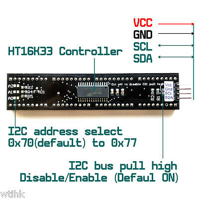 Ht16k33 Alphanumeric 8-digit 14-segment 0.54-inch Led I2c Ardiuno Raspberry