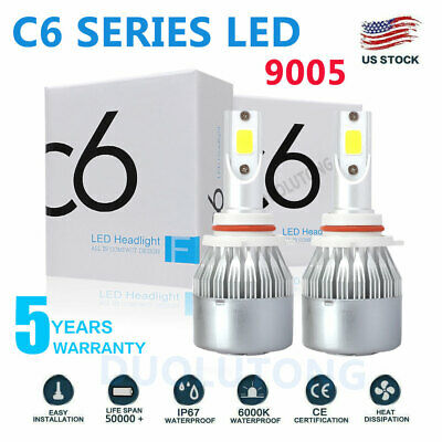 9005 HB3 COB LED Headlight Kit Bulb High Low Beam 9145 9140 100W 20000LM 6000K