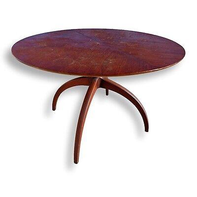 Rare Vtg Mid Century Modern Henredon Sculptural Horn Leg Dining Table With Leaf