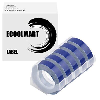 5pack Blue Rolls Label Tape For Dymo 3d Embossing Label Maker Tape 38 X 3m