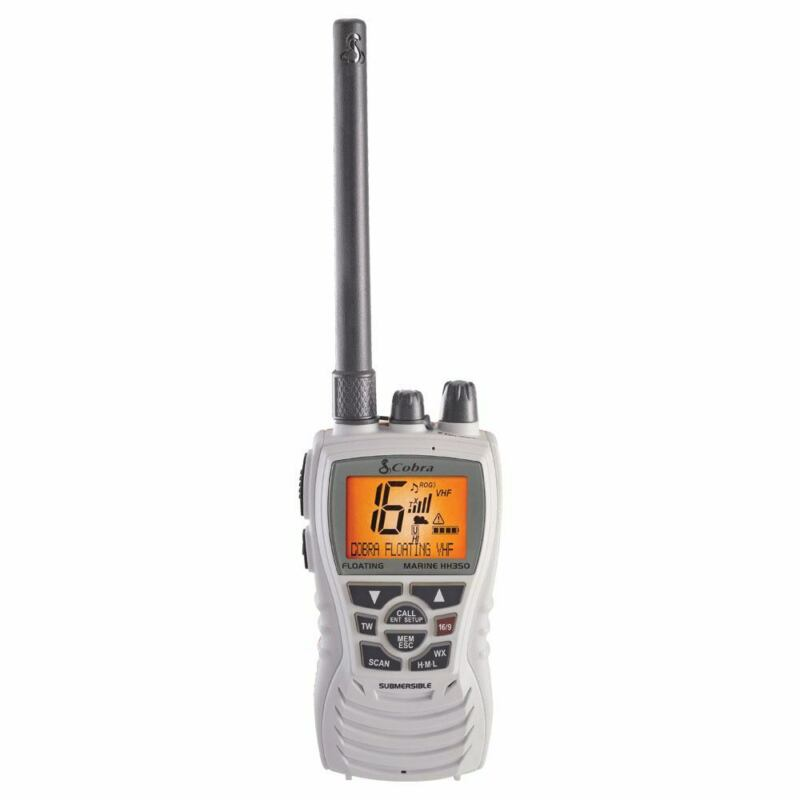 Cobra MR HH350W FLT 6 Watt Floating VHF Radio White Waterproof Handheld