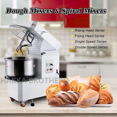 Hakka 20qt30qt40qt Commercial Rising Head Double Speed Spiral Dough Mixer